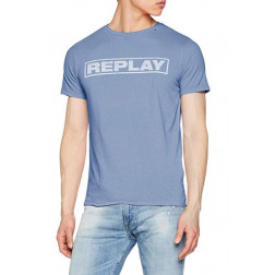 Camiseta Replay G. Dyed Open End Ha Blue Voile Hombre