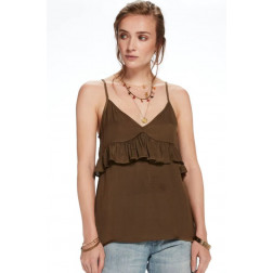 TOP MAISON TANK WITH RUFFLE MOSS MUJER