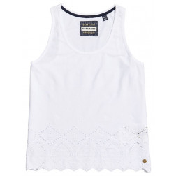 CAMISETA SUPERDRY PACIFIC BRODERIE LINER WHITE MUJER