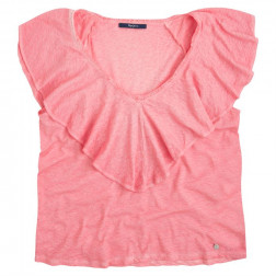 PEPE JEANS KASIA WASHED CORAL CAMISETA MUJER