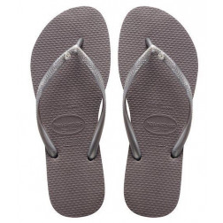 CHANCLAS HAVAIANAS CRYS GLAMOU STEEL GREY