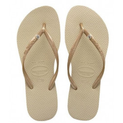 CHANCLAS HAVAIANAS CRYS GLAMOU GREY GOLDE MUJER