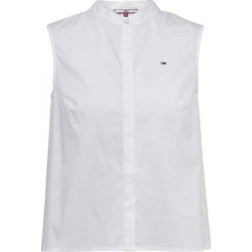Blusa Tommy Hilfiger Solid Black Pleat White Mujer