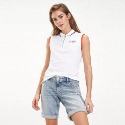 Polo Tommy Hilfiger Sleeveless Classic White Mujer