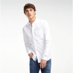Camisa Tommy Hilfiger Solid Twill Classic White Hombre
