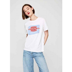Camiseta Pepe Jeans 45th Off White Mujer