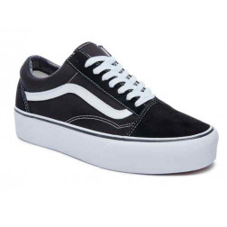 Zapatilla Vans Old Skool Platform Black/White
